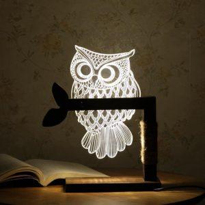 Đèn cú mèo có kích thước 25x45cm.Đèn gồm 2 phần đó là phần khung gỗ và phần chú cú mèo,đèn chạy điện 220V,thích hợp dùng làm đèn đọc sách,đèn ngủ,trang trí.
