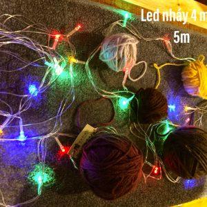 LED Nháy 5m Nhiều Màu-Chạy Điện